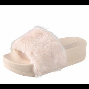 Fun Faux Fur Slip Ons